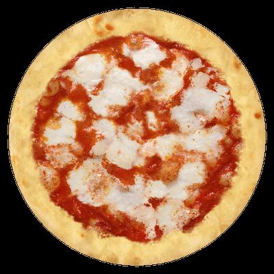 Base rossa e mozzarella